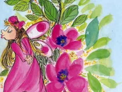 La flor violeta.